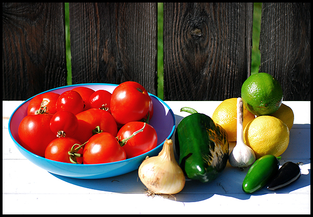 (mostly) home grown ingredients