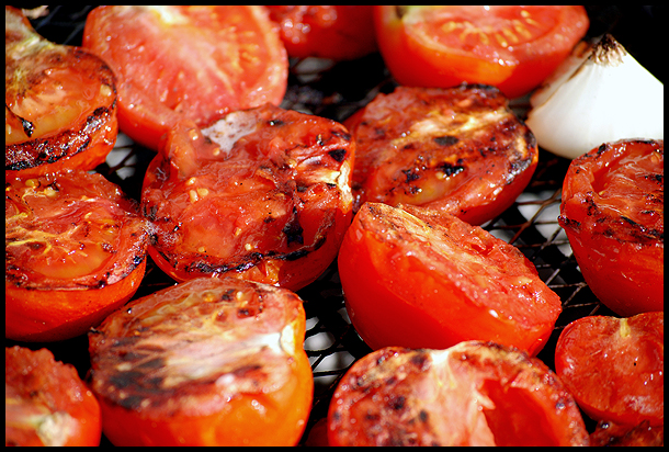 Grilled tomatoes!