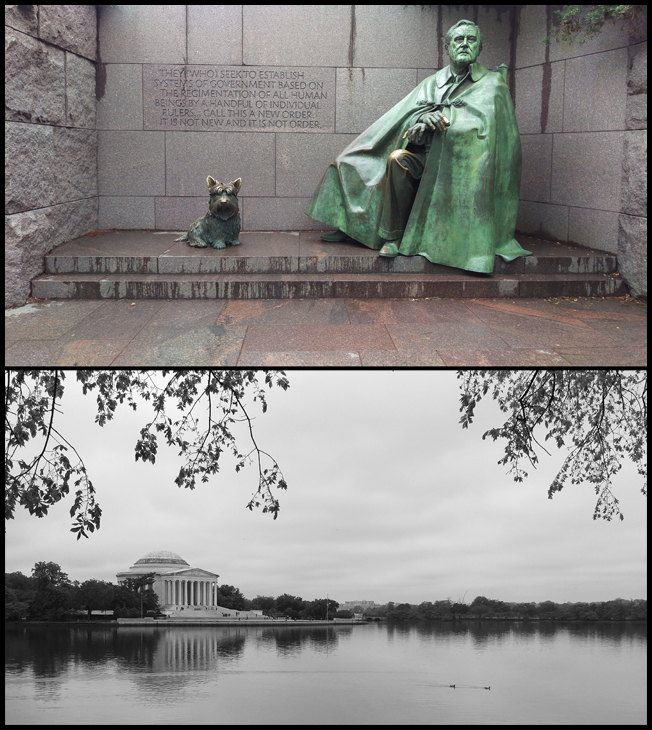 My fav president FDR, and the Jefferson Memorial