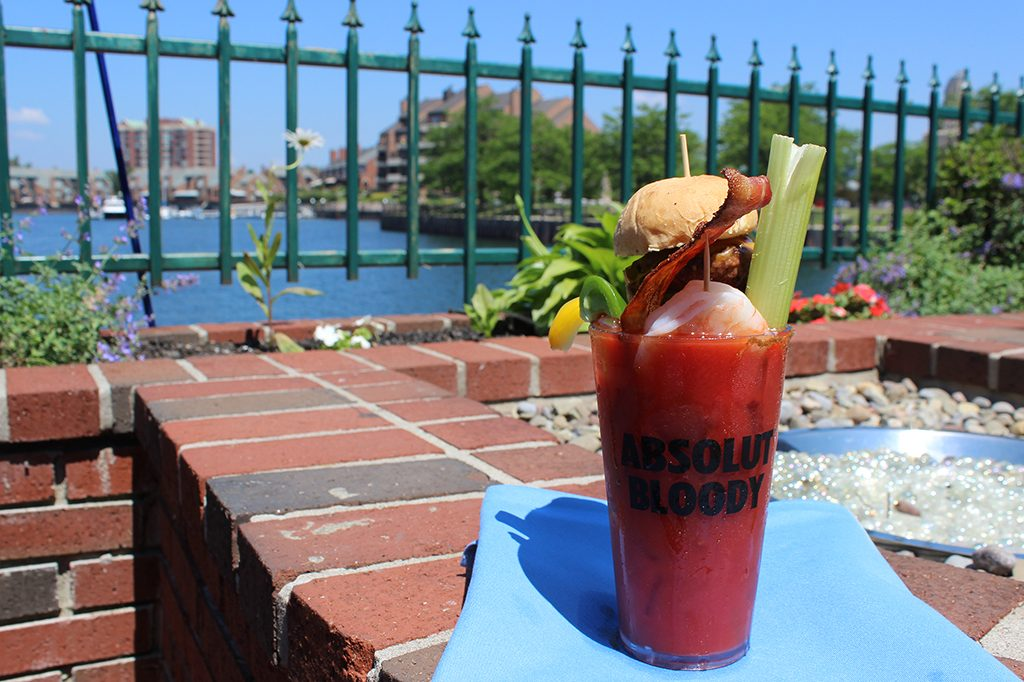 Buffalo Dandy's Templeton Landing bloody mary, off a create your own cart....